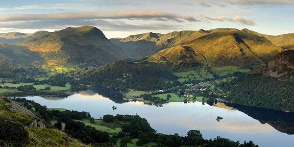 Ullswater and the Helvellyn range