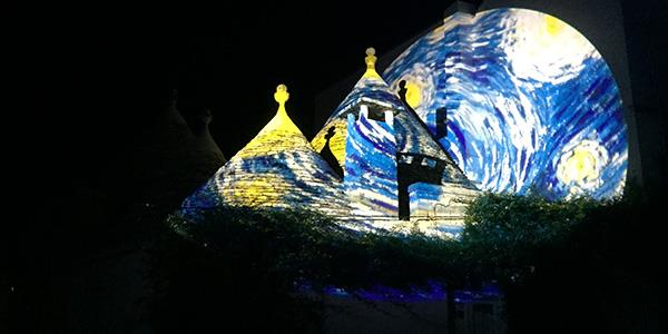 Stunning Light Displays in the Historic UNESCO World Heritage Site of Alberobello