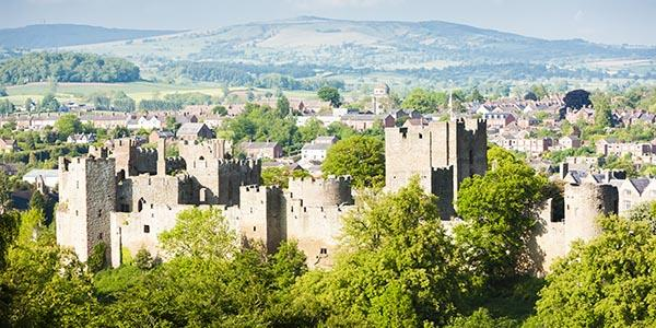 Ludlow castle in Shropshire