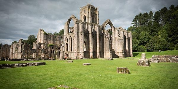 The fantastic Cistercian ruins of Fountains Abbey in North Yorkshire