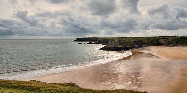 Water sports beaches around St. Brides Bay