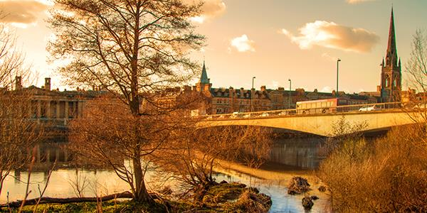 View of Perth in Scotland