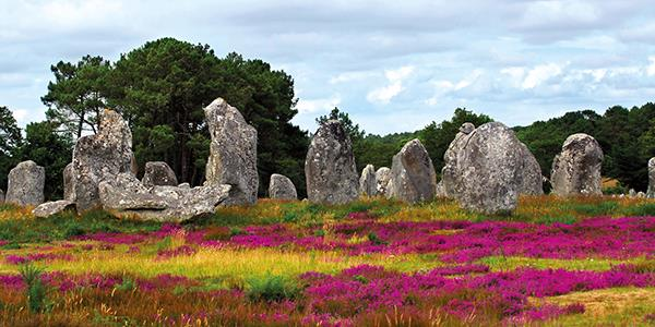 Neolithic Standing Stones in Carnac, Brittany