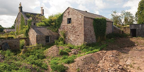 Medieval village lies under the new Lucker Hall in Northumberland