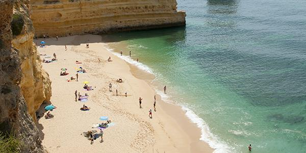 Praia da Cova Redonda Beach in the Algarve