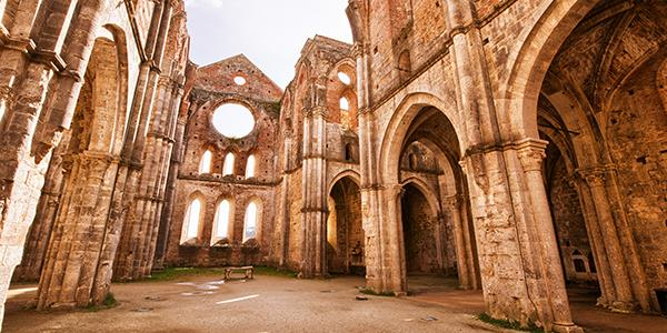 Visit the historic Abbey of San Galgano in Tuscany