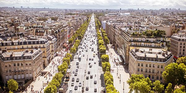 It's easy to visit the famous Champs-Élysées in Paris