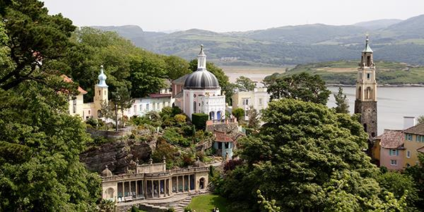 Portmeirion tourist village in North Wales