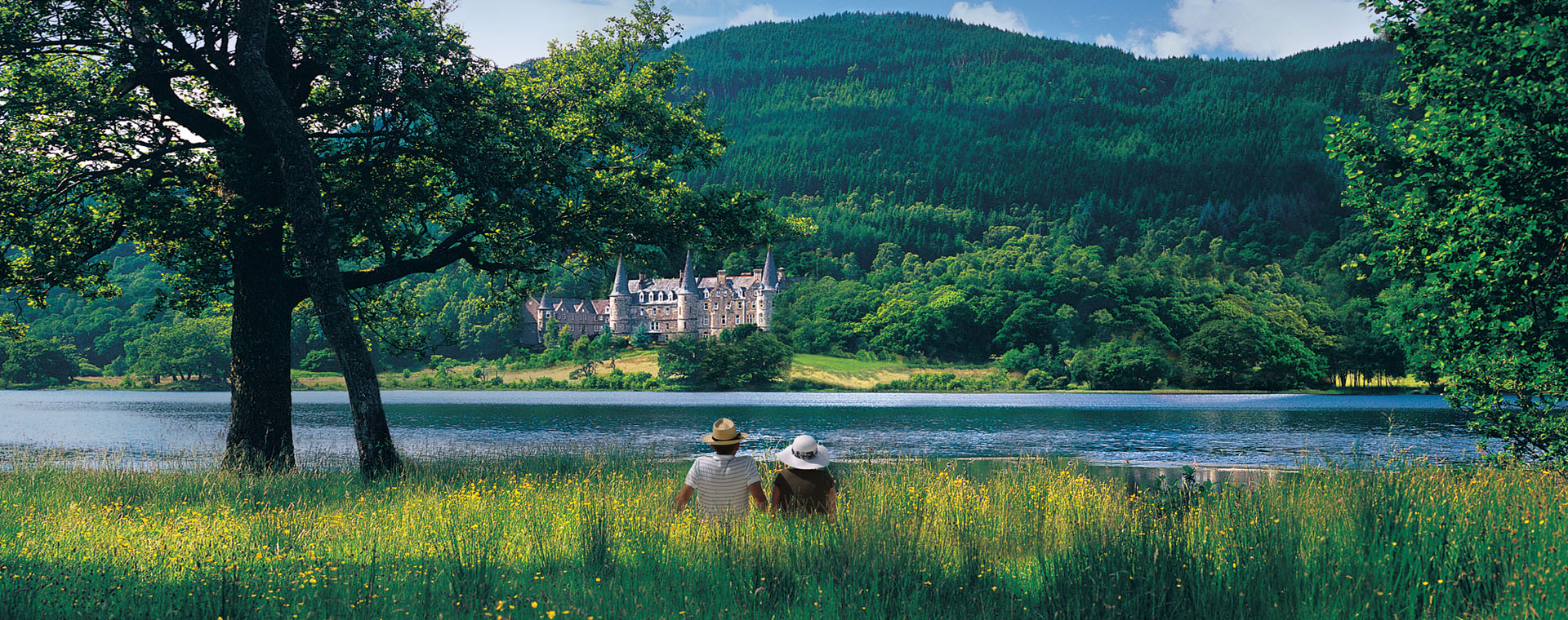 View of Tigh Mor Trossachs in Scotland