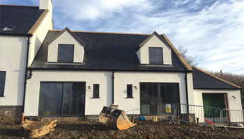 Development work taking place at Coo Palace, HPB's new development near Kirkcudbright in Galloway