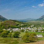 View over Braithwaite from the slopes of Barrow