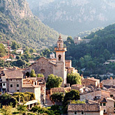 The picturesque mountain village of Valldemossa with its famous monastery