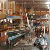 The National Maritime Museum in Cornwall is located in an award-winning building on the harbour