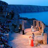 Watch an evening performance in the 750 seat, fully equipped auditorium in the cliff side Minack Theatre