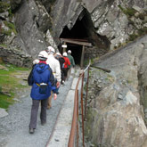 Amazing tours deep underground in Honister Slate Mine