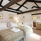 Twin beds in Yorkshire Dales