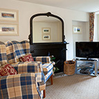 Living room in holiday cottage