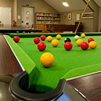 Pool/Snooker table at Devon holiday home