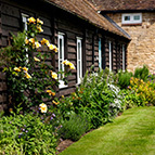 Garden of holiday cottage, Shropshire