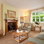 Living room of holiday cottage, Shropshire