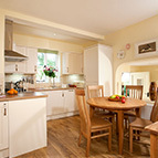 Dining room of holiday cottage, Shropshire