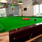 Pool table of holiday cottage, Shropshire