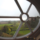 View from window of holiday cottage, Shropshire