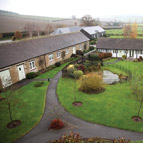 Courtyard of holiday properties in Shropshire