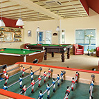 Football table and pool tables