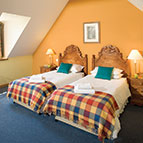 Twin bedrooms in holiday property