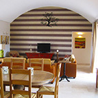 Dining area in holiday villa, Puglia, Italy