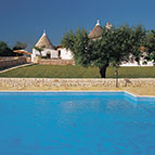 Swimming pool and holiday villas
