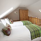 Beds in holiday cottage